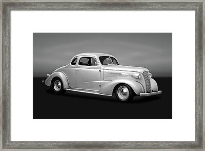 1937 Chevrolet Master Deluxe  -  1937chevycpegry170250 Framed Print by Frank J Benz