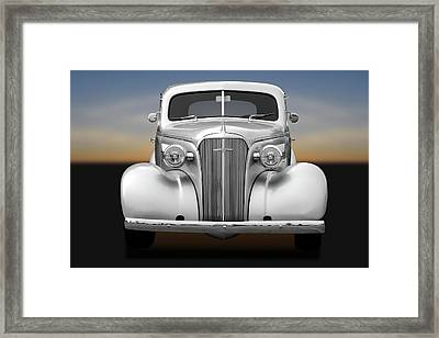 1937 Chevrolet Master Deluxe  - 37chevycoupe170256 Framed Print by Frank J Benz