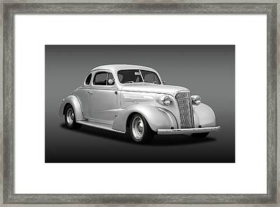 1937 Chevrolet Master Deluxe Custom 2 Door Coupe  -  37chevycoupefa170251 Framed Print by Frank J Benz