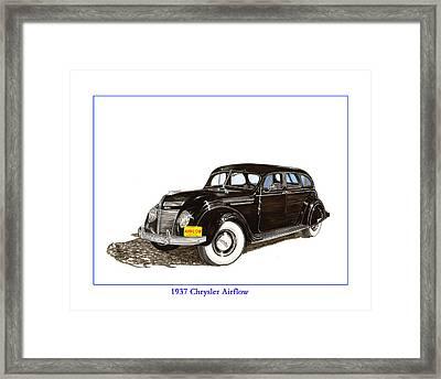 1937 Chrysler Airflow  Framed Print