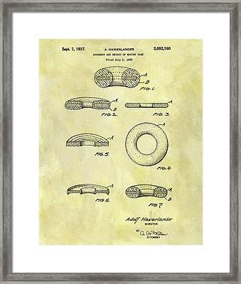 1937 Doughnut Patent Framed Print by Dan Sproul