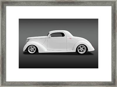 Framed Print featuring the photograph 1937 Ford Coupe  -  1937ford3wincoupefa172185 by Frank J Benz