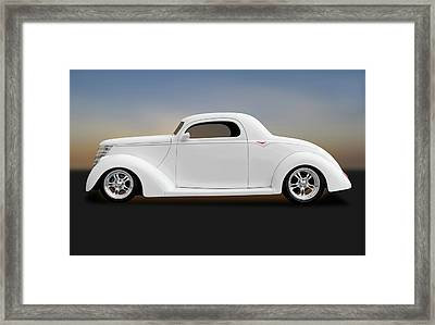 Framed Print featuring the photograph 1937 Ford Coupe  -  1937fordcoupe172185 by Frank J Benz