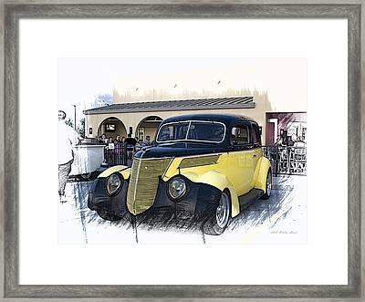 1937 Ford Deluxe Sedan_a2 Framed Print