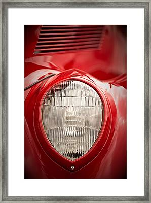 1937 Ford Headlight Detail Framed Print