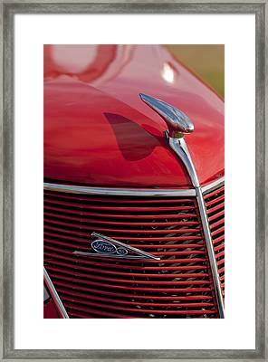1937 Ford Hood Ornament Framed Print by Jill Reger
