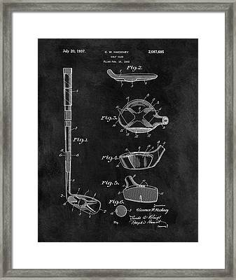 1937 Golf Club Patent Illustration Framed Print