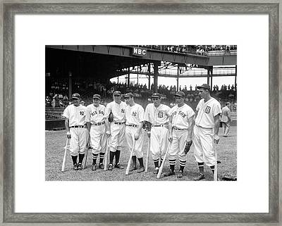 1937 Major League All Star Game Framed Print by Rospotte Photography