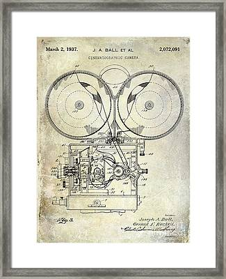 1937 Motion Picture Camera Patent Framed Print