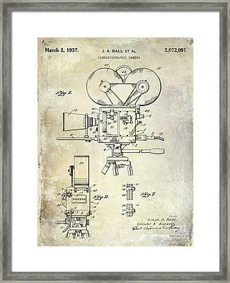 1937 Movie Camera Patent Framed Print