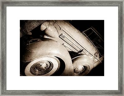 1937 Packard 1508 Dietrich Convertible Sedan -0035s Framed Print by Jill Reger