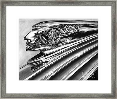 1937 Pontiac Chieftain Abstract Framed Print