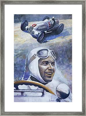 1937 Rudolf Caracciola Mb W125 Framed Print