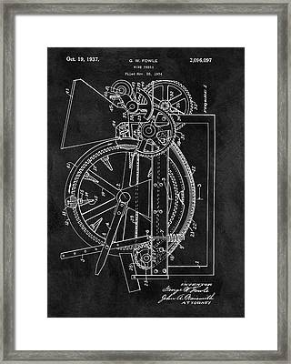 1937 Wine Press Framed Print by Dan Sproul