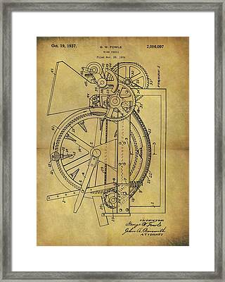 1937 Wine Press Patent Framed Print