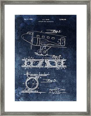 1938 Airplane Door Patent Framed Print
