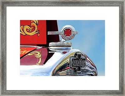 1938 American Lafrance Fire Truck Hood Ornament Framed Print by Jill Reger