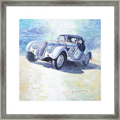 1938 Bmw 328 Roadster Caracciola Gp 2016 Winner Framed Print