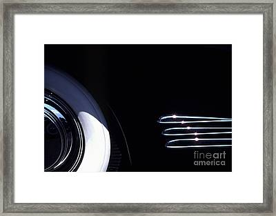 1938 Cadillac Limo With Chrome Strips Framed Print