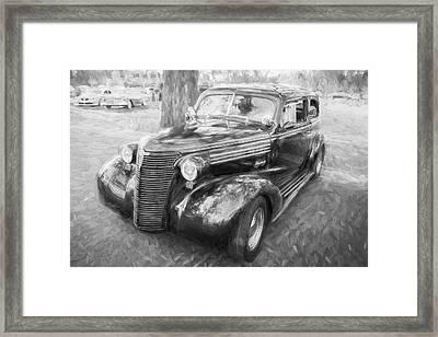 1938 Chevrolet 2 Door Sedan Deluxe C116 Bw Framed Print by Rich Franco