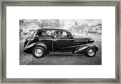 1938 Chevrolet 2 Door Sedan Deluxe C121 Bw Framed Print by Rich Franco