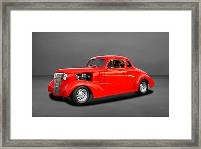 1938 Chevrolet Coupe - 5 Window Framed Print by Frank J Benz