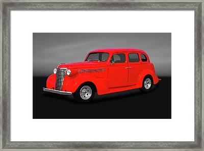 1938 Chevrolet Master Deluxe 4 Door Sedan   -   1938chevmastdelxesedgry170369 Framed Print by Frank J Benz