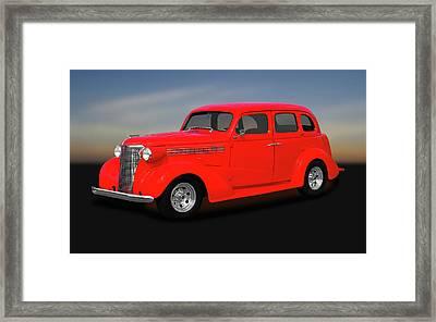 1938 Chevrolet Master Deluxe 4 Door Sedan   -   1938chevmasterdeluxesedan170369 Framed Print by Frank J Benz