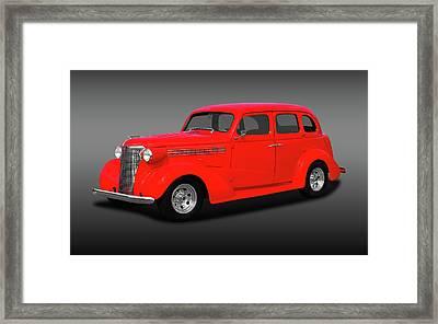1938 Chevrolet Master Deluxe 4 Door Sedan   -   38chevmasterdeluxefa170369 Framed Print by Frank J Benz