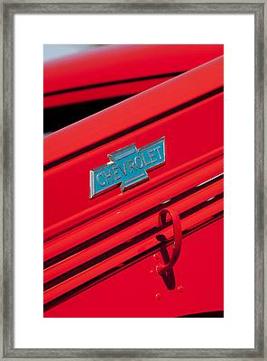 1938 Chevrolet Pickup Truck Emblem Framed Print by Jill Reger