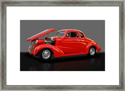 1938 Chevy 5 Window Coupe Framed Print by Frank J Benz