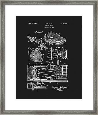 1938 Exercise Device Patent Framed Print by Dan Sproul