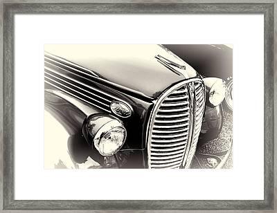 1938 Ford Pickup Truck Black And White Framed Print
