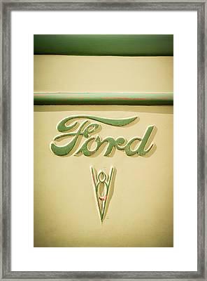 1938 Ford Rat Rod Panel Truck V8 Emblem -ck0119c Framed Print by Jill Reger