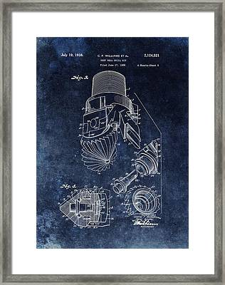1938 Oil Drill Bit Patent  Framed Print by Dan Sproul