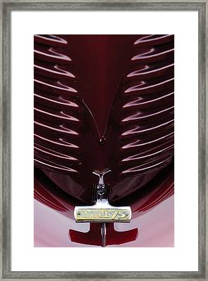 1938 Willys Grille Framed Print by Jill Reger