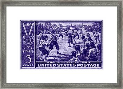 1939 Baseball Centennial Framed Print by Historic Image