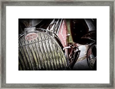 1939 Bugatti T57c Galibier Grille Emblem -0303ac Framed Print by Jill Reger
