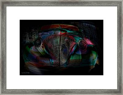 1939 Chevy In A Biubble Car Abstract Framed Print