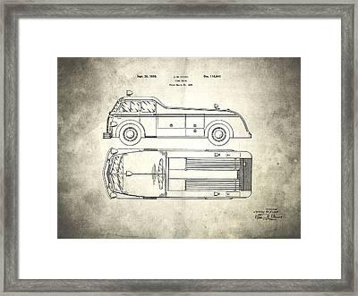 1939 Fire Truck Patent Framed Print by Mark Rogan