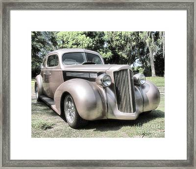 1939 Packard Coupe Framed Print by Richard Rizzo