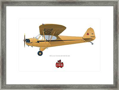 1939 Piper J3 Cub Framed Print
