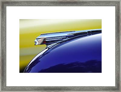 1939 Pontiac Coupe Hood Ornament Framed Print by Jill Reger