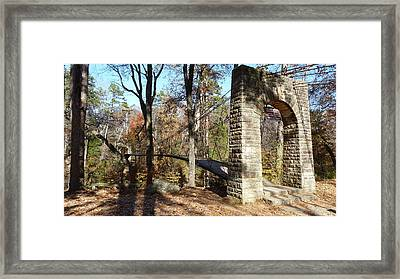 1939 Swinging Bridge Framed Print by Joel Deutsch