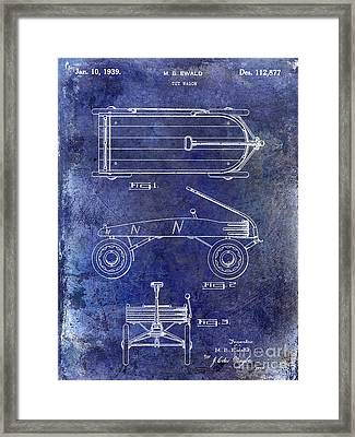 1939 Toy Wagon Patent Blue Framed Print by Jon Neidert