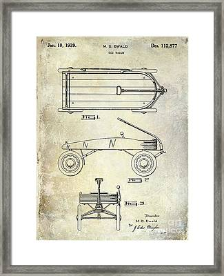 1939 Toy Wagon Patent  Framed Print by Jon Neidert