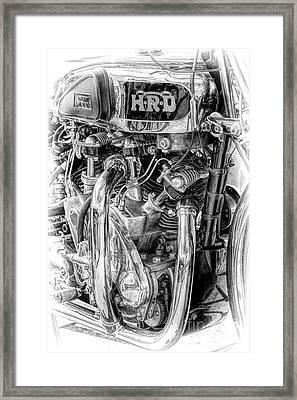 1939 Vincent Hrd Rapide Framed Print
