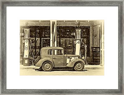 1940 Bantam Coupe 2 - Paint Sepia Framed Print by Steve Harrington