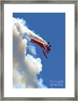 1940 Boeing Stearman Biplane Stunt 2 Framed Print