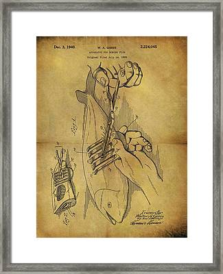 1940 Boning Fish Patent Framed Print by Dan Sproul